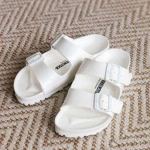 NEW Birkenstock Arizona Eva White Slides sz 37